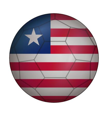 liberia: design soccer ball flag of Liberia