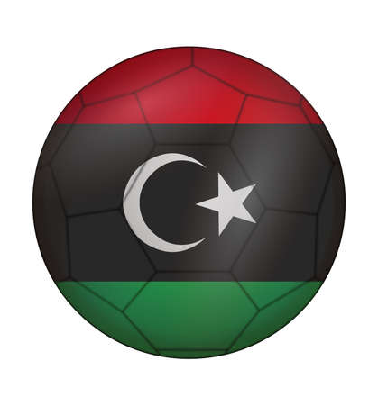 design soccer ball flag of Libya