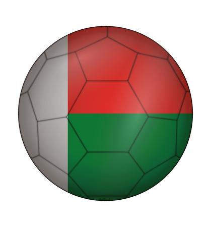 design soccer ball flag of Madagascar