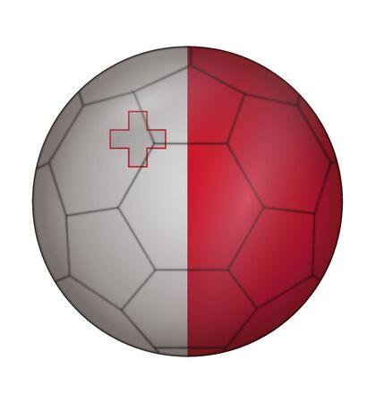 malta: ontwerp voetbal vlag van Malta