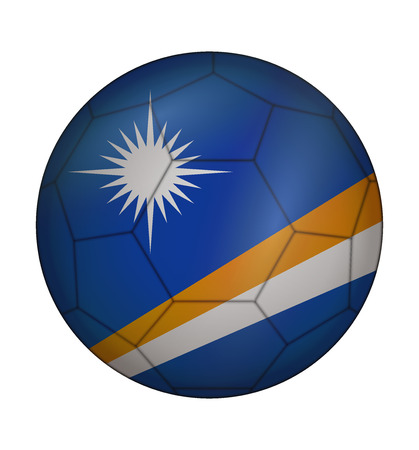marshall: design soccer ball flag of Marshall Islands Illustration