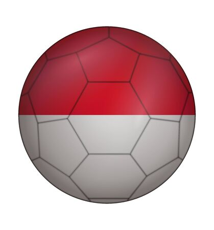 design soccer ball flag of Monaco Vector