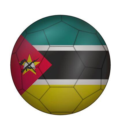 mozambique: design soccer ball flag of Mozambique