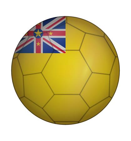 niue: design soccer ball flag of Niue