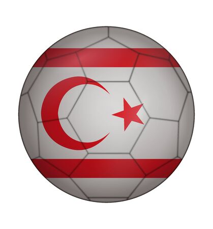 northern: design soccer ball flag of Northern Cyprus Illustration