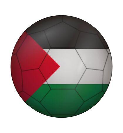 palestine: design soccer ball flag of Palestine