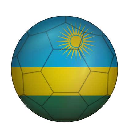 design soccer ball flag of Rwanda Illustration