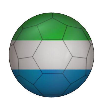sierra leone: design soccer ball flag of Sierra leone