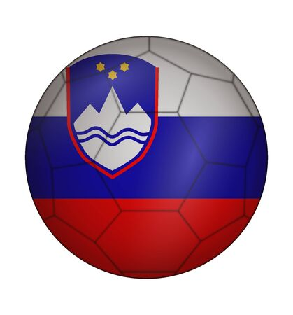 design soccer ball flag of Slovenia