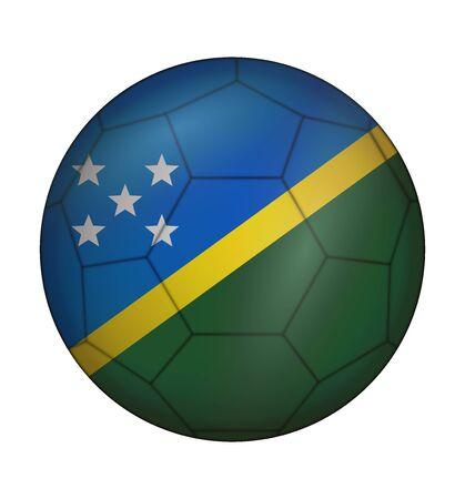 design soccer ball flag of Solomon Islands