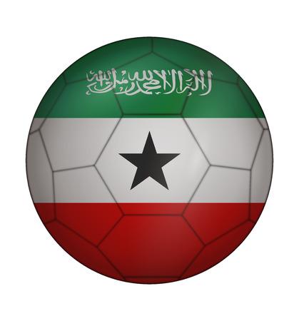 somaliland: design soccer ball flag of Somaliland Illustration