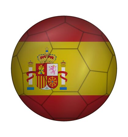 design soccer ball flag of Spain