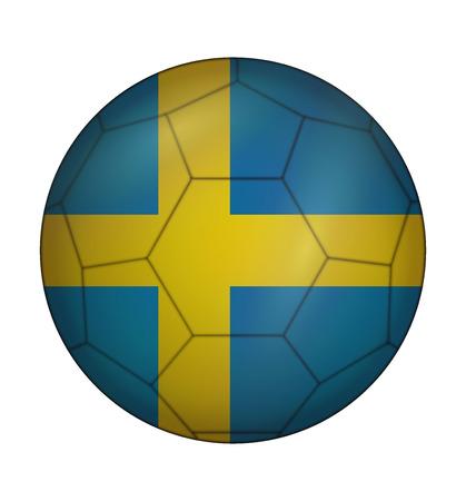 design soccer ball flag of Sweden Illustration