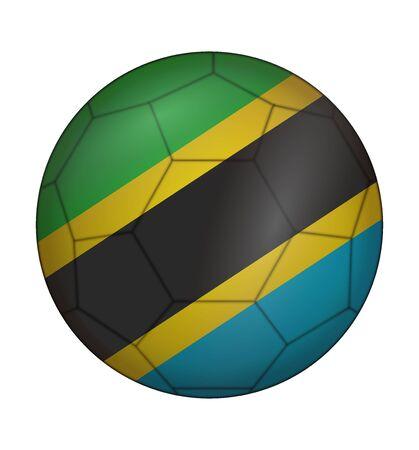 design soccer ball flag of Tanzania