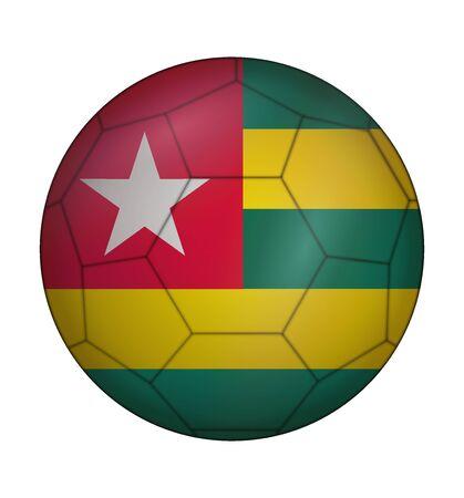 togo: design soccer ball flag of Togo