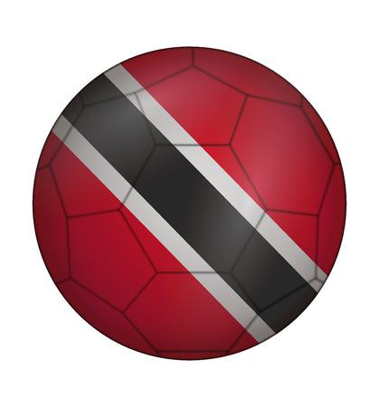 trinidad: design soccer ball flag of Trinidad and Tobago