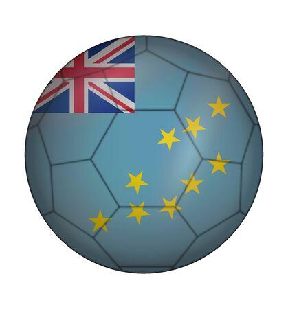 design soccer ball flag of Tuvalu Illustration