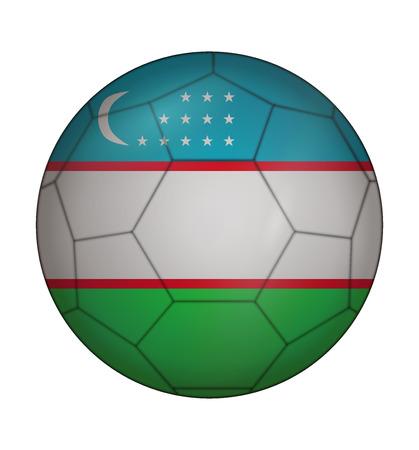 design soccer ball flag of Uzbekistan Illustration