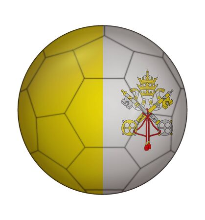 vatican city: design soccer ball flag of Vatican City Illustration