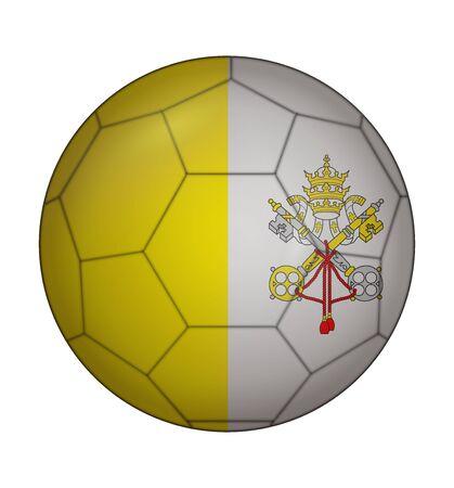 ciudad del vaticano: dise�o de la bandera del bal�n de f�tbol de la Ciudad del Vaticano Vectores