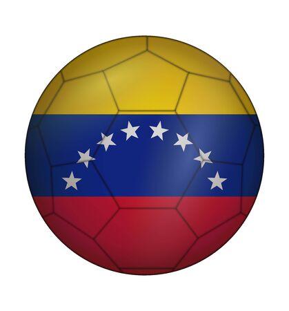 design soccer ball flag of Venezuela Illustration