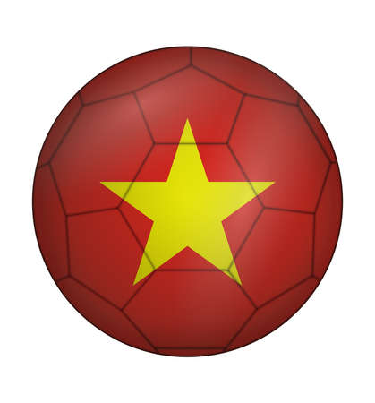 design soccer ball flag of Vietnam