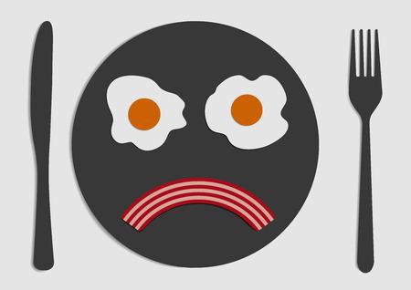 eggs and bacon: bacon and eggs sad face