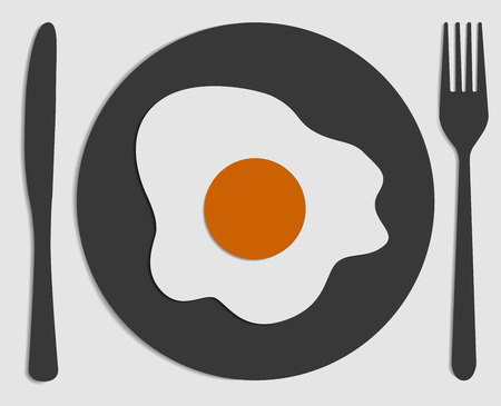 fried egg: design fried egg Illustration