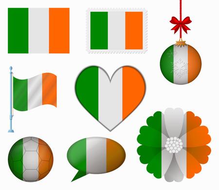 bandera de irlanda: Irlanda del pabell�n conjunto de 8 art�culos vector