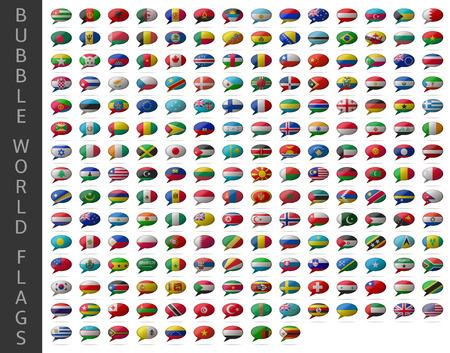bubble wereld vlaggen Stock Illustratie