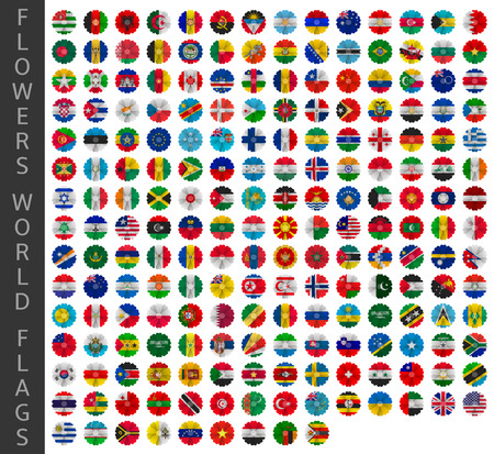 flowers world flags