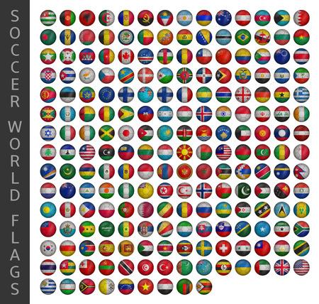 banderas del mundo: banderas del mundo de fútbol Vectores
