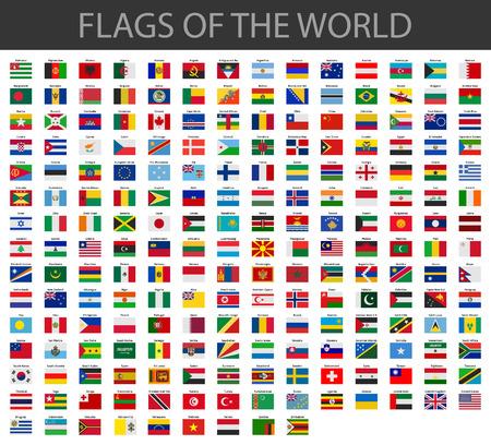 Wereld vlaggen vector Stockfoto - 37930941