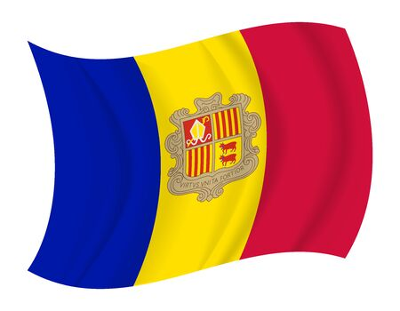 andorra: design Andorra flag waving vector Illustration