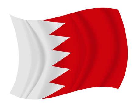 bahrain: design Bahrain flag waving vector