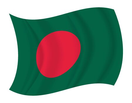 bangladesh: design Bangladesh flag waving vector