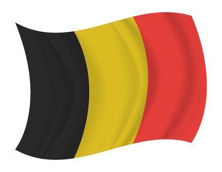 belgium flag: design Belgium flag waving vector