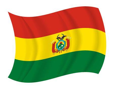 bandera de bolivia: dise�ar Bolivia bandera ondeando vector Vectores