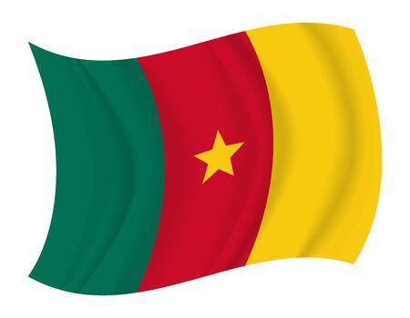 cameroon: design Cameroon flag waving vector Illustration