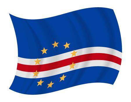 cape verde: design Cape Verde flag waving vector