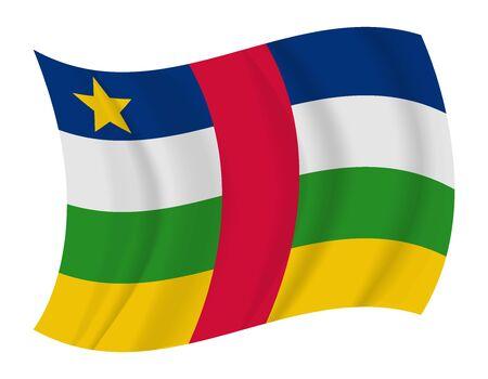central: ontwerpen Centraal-Afrikaanse Republiek vlag zwaaien vector