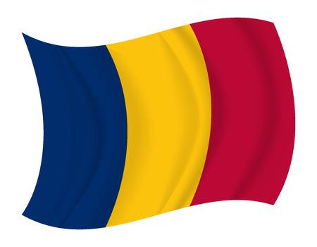 chad: design Chad flag waving vector