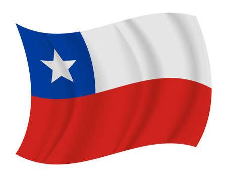bandera de chile: diseñar Chile bandera ondeando vector