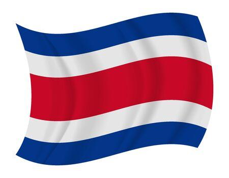 costa rica flag: design Costa Rica flag waving vector