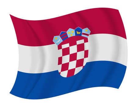 bandera croacia: diseñar Croacia bandera ondeando vector Vectores