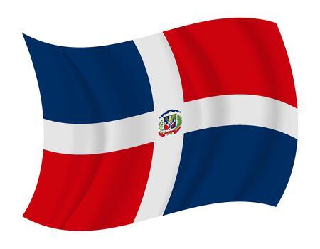 dominican: design Dominican Republic flag waving vector