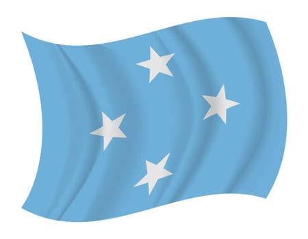 micronesia: design F.S. Micronesia flag waving vector