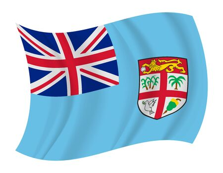 fiji: design Fiji flag waving vector