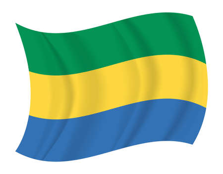 gabon: design Gabon flag waving vector