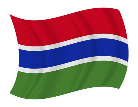 gambia: design Gambia flag waving vector